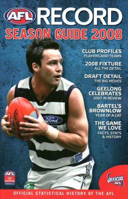 AFL Record Guide to Season 2008 by Michael Lovett