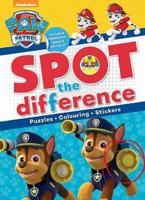 Nickelodeon PAW Patrol Spot the Difference by Parragon Books Ltd
