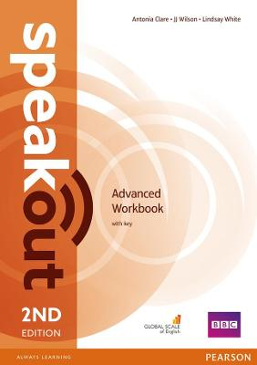 Speakout Advanced 2nd Edition Workbook with Key book