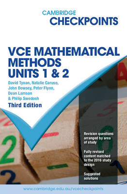 Cambridge Checkpoints VCE Mathematical Methods Units 1 and 2 by David Tynan