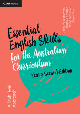 Essential English Skills for the Australian Curriculum Year 7 by Anne-Marie Brownhill