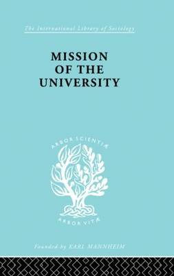Mission of the University by Jose Ortega y Gasset