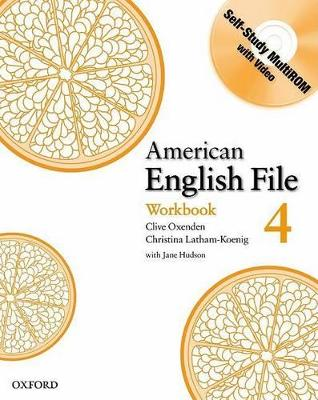 American English File Level 4: Workbook with Multi-ROM Pack by Clive Oxenden