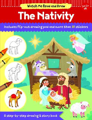 Watch Me Read and Draw: The Nativity: A step-by-step drawing & story book by Walter Foster Jr. Creative Team