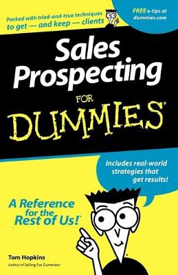 Sales Prospecting For Dummies by Tom Hopkins