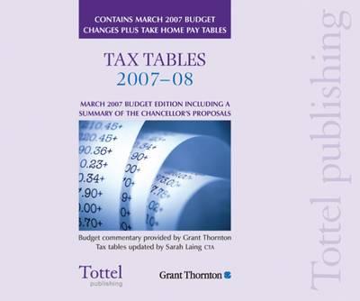 Tax Tables: General Taxation: 2007 book