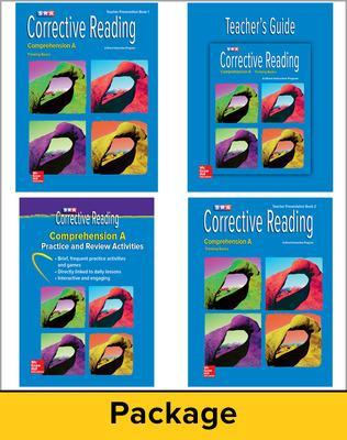 Corrective Reading Comprehension Level A, Teacher Materials Package by McGraw Hill