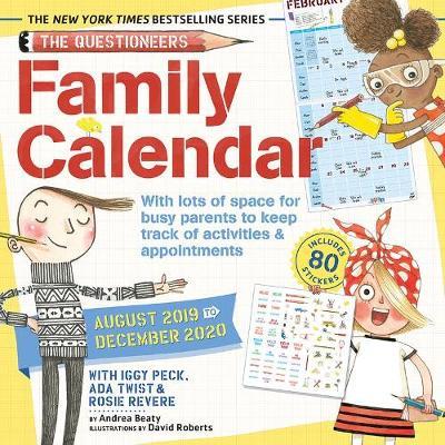 Iggy, Rosie & Ada Family Planner 2019 Wall Calendar by Andrea Beaty