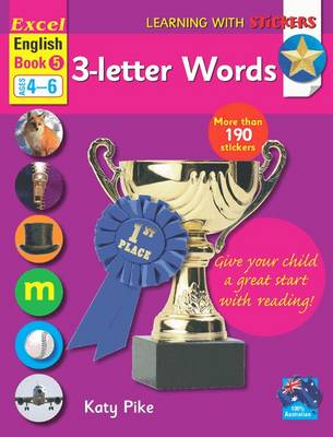 Excel English Book 5 - 3-letter Words by Katy Pike