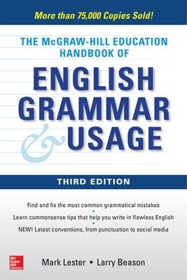McGraw-Hill Education Handbook of English Grammar & Usage by Mark Lester