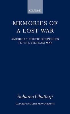Memories of a Lost War book