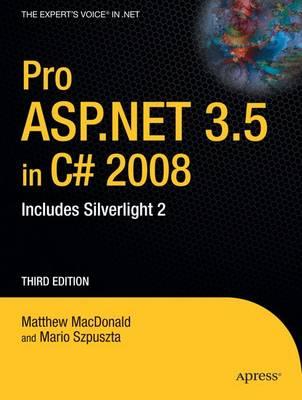 Pro ASP.Net 3.5 in C? 2008 book