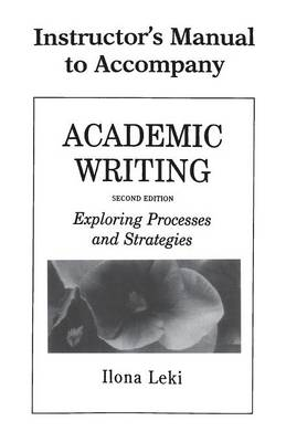 Academic Writing Instructor's Manual book