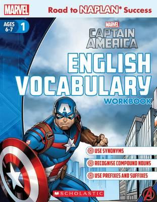 Marvel Workbook: Captain America Level 1 English Vocabulary book