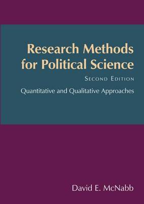 Research Methods for Political Science by David E. McNabb