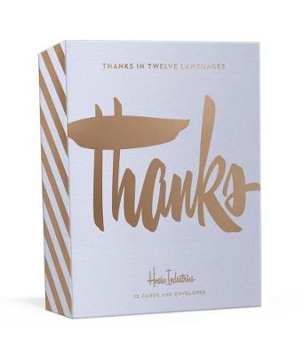 Thanks in Twelve Languages: 12 Foil-Stamped Note Cards and Envelopes by House Industries