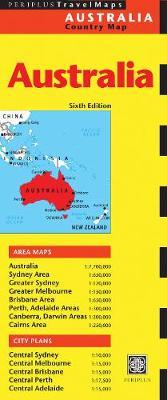 Australia Travel Map Sixth Edition by Periplus Editors