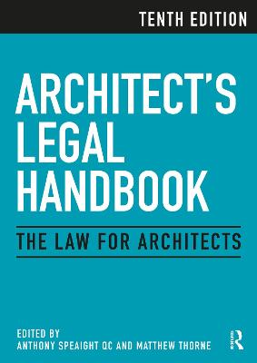 Architect's Legal Handbook: The Law for Architects book