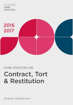 Core Statutes on Contract, Tort & Restitution 2016-17 by Graham Stephenson