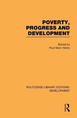 Poverty, Progress and Development book