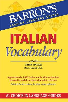 Italian Vocabulary by Marcel Danesi