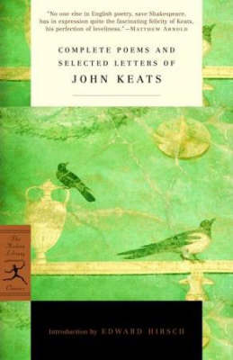 Mod Lib Complete Poems & Selected Letters Of John Keats by John Keats