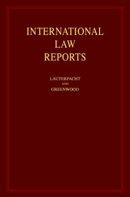 International Law Reports book