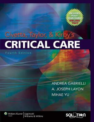 Civetta, Taylor and Kirby's Critical Care book