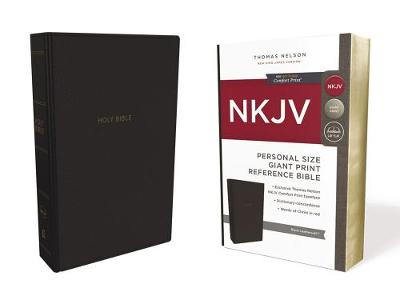 NKJV, Reference Bible, Personal Size Giant Print, Leathersoft, Black, Red Letter Edition, Comfort Print by Thomas Nelson