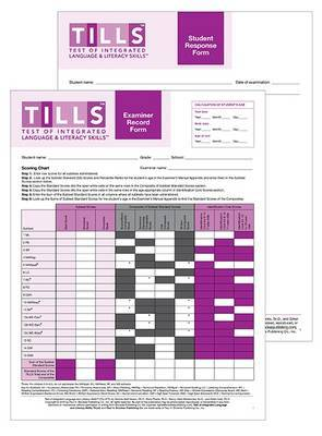 Test of Integrated Language and Literacy Skills (TM) (TILLS (TM)) Forms Set by Nickola W. Nelson