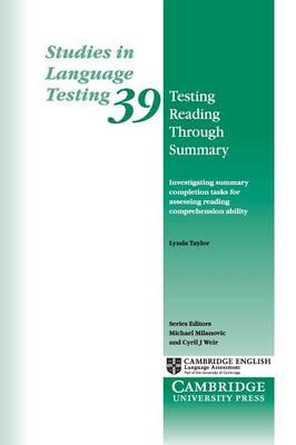 Testing Reading through Summary by Lynda Taylor