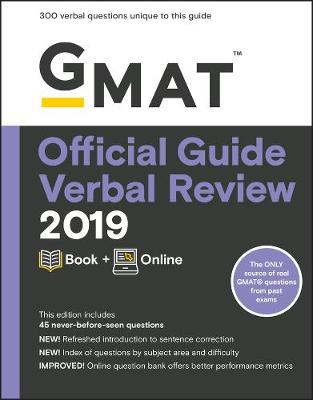 GMAT Official Guide 2019 Verbal Review: Book + Online by GMAC (Graduate Management Admission Council)