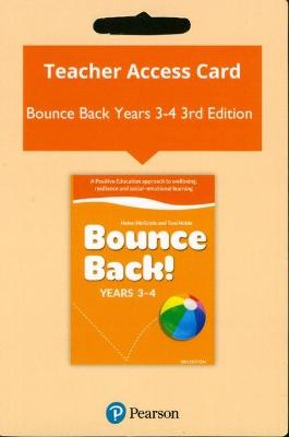 Bounce Back! Years 3-4 Reader+ (Access Card) by Helen McGrath