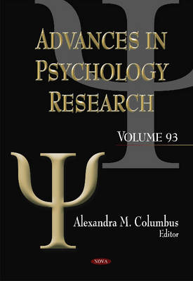 Advances in Psychology Research by Alexandra M Columbus