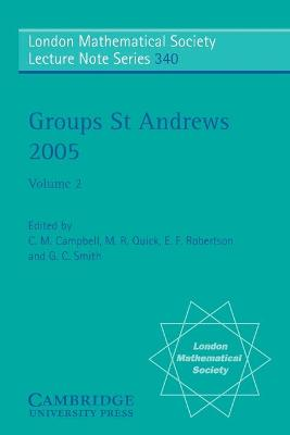 Groups St Andrews 2005: Volume 2 book