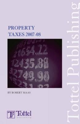 Property Taxes: 2007-2008 book