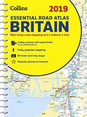 2019 Collins Essential Road Atlas Britain by Collins Maps