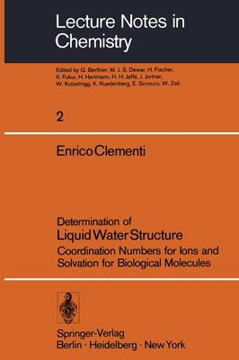 Determination of Liquid Water Structure by Enrico Clementi