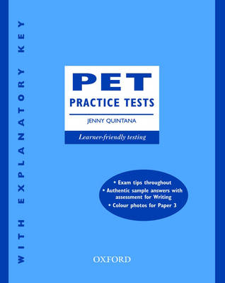 PET Practice Tests: with Key PET Practice Tests, New Edition: With Key With Key by Jenny Quintana