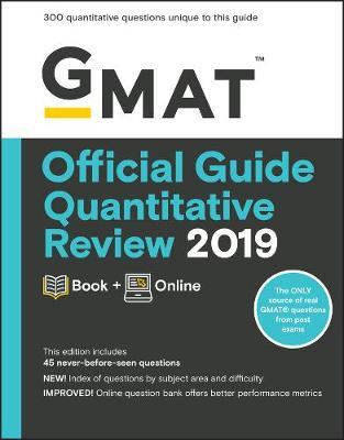 GMAT Official Guide 2019 Quantitative Review: Book + Online by GMAC (Graduate Management Admission Council)