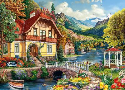 House by the Pond Jigsaw book