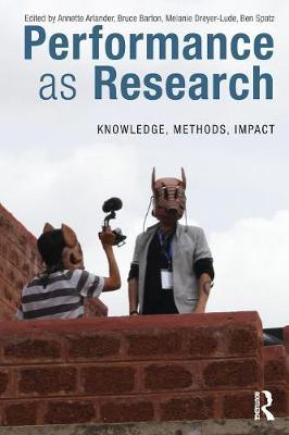 Performance as Research book