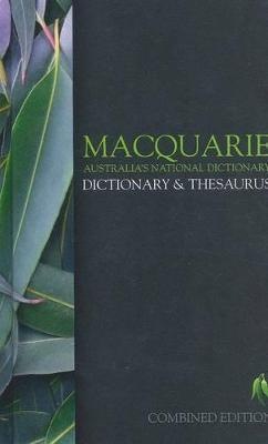Macquarie Dictionary & Thesaurus book