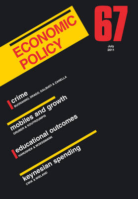 Economic Policy  67 by Georges De Menil