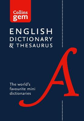 Collins English Dictionary and Thesaurus Gem Edition book