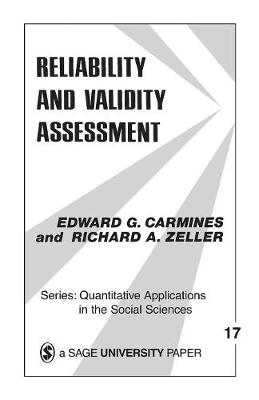 Reliability and Validity Assessment by Edward G. Carmines