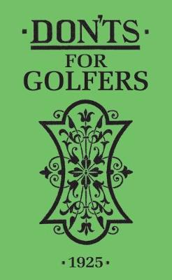 Don'ts for Golfers book