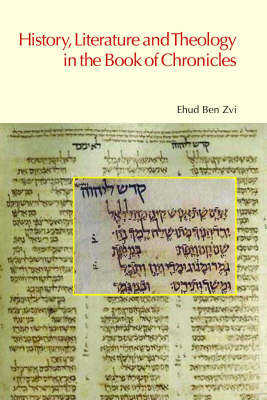 History, Literature and Theology in the Book of Chronicles book