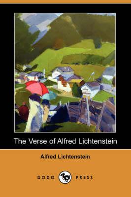 Verse of Alfred Lichtenstein (Dodo Press) book