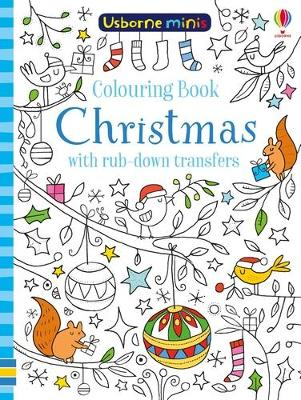 Colouring Book Christmas with rub-down transfers book